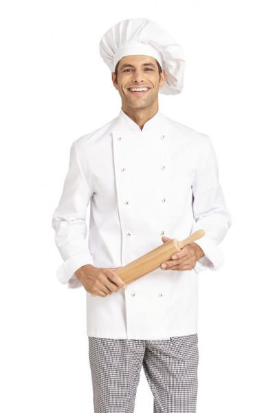 Bäckerjacke, Unisex, 1/1 Arm, Kugelknöpfe